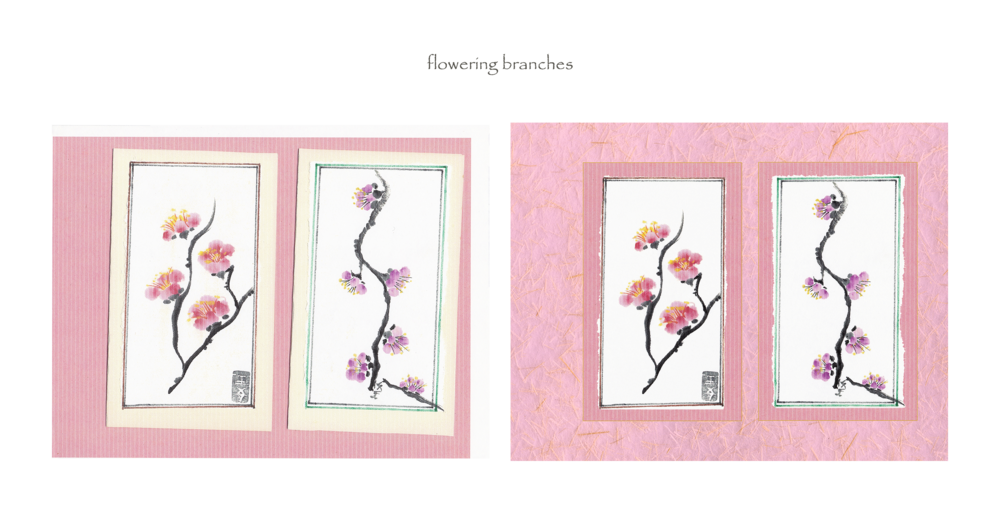 flowering branches (before & after)
