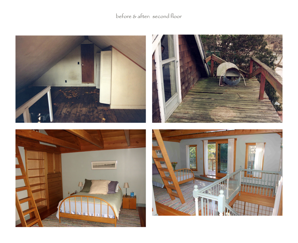 before & after (second floor)