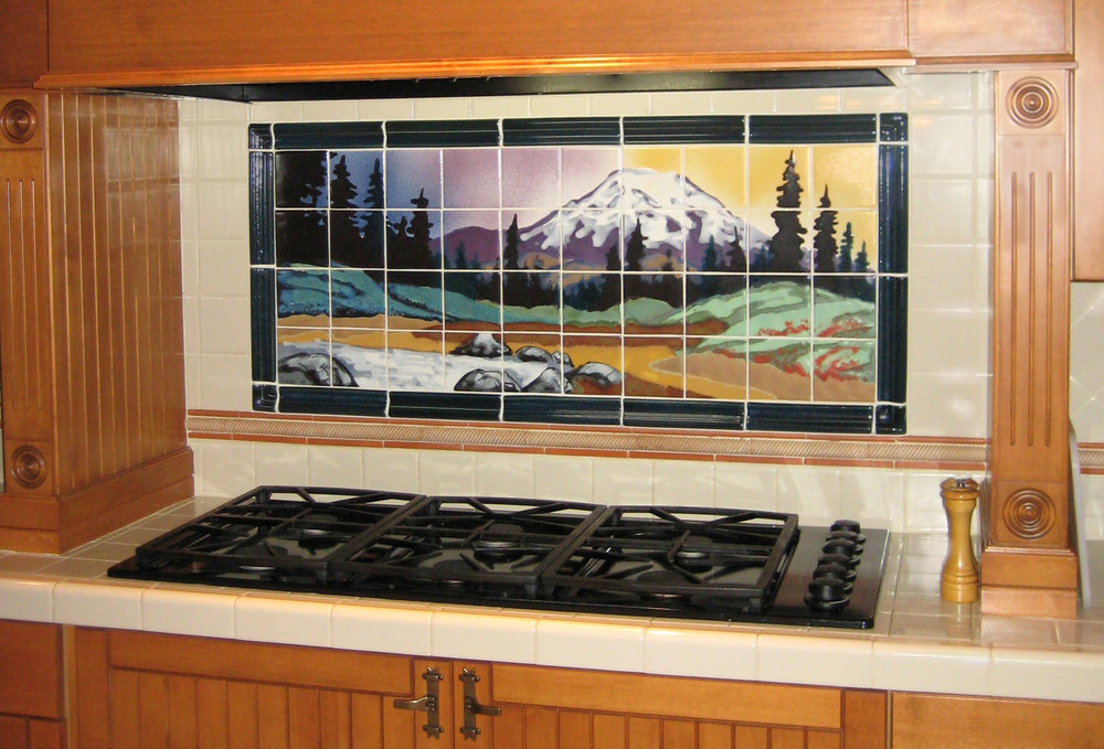Mt. Rainier Backsplash