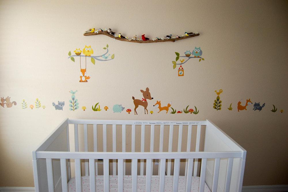 bird branch in nursery