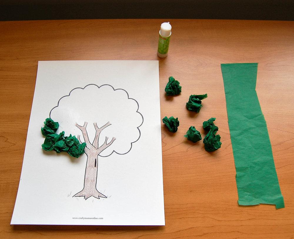 Arbor Day tissue paper tree craft-2.jpg