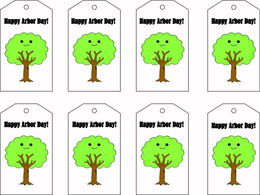 arbor day gift tags