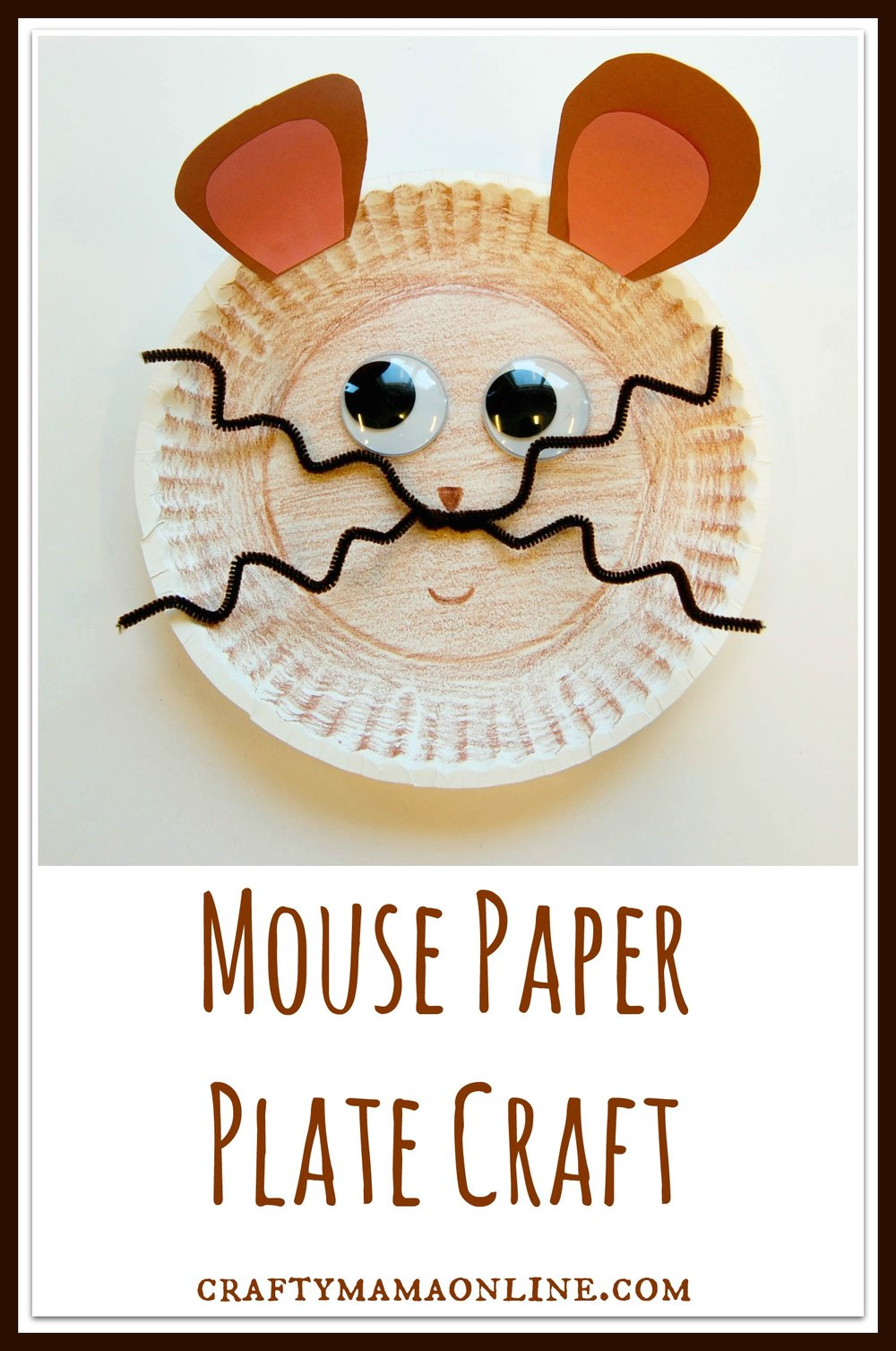mouse paper plate craft