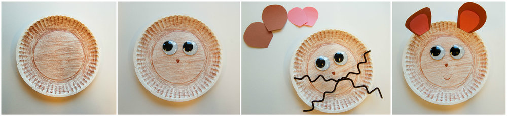 mouse paper plate craft collage