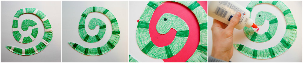 snake paper plate collage 2