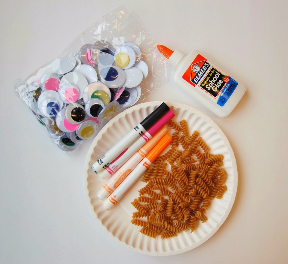 noodle lion craft supplies