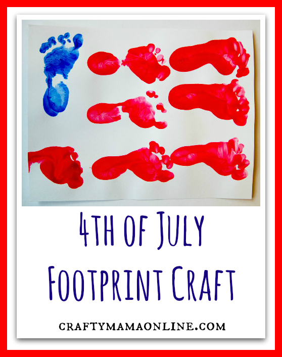 4th of July footprint craft