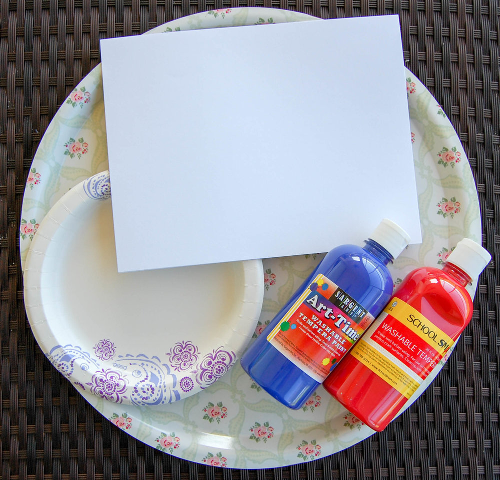 4th of july footprint craft supplies
