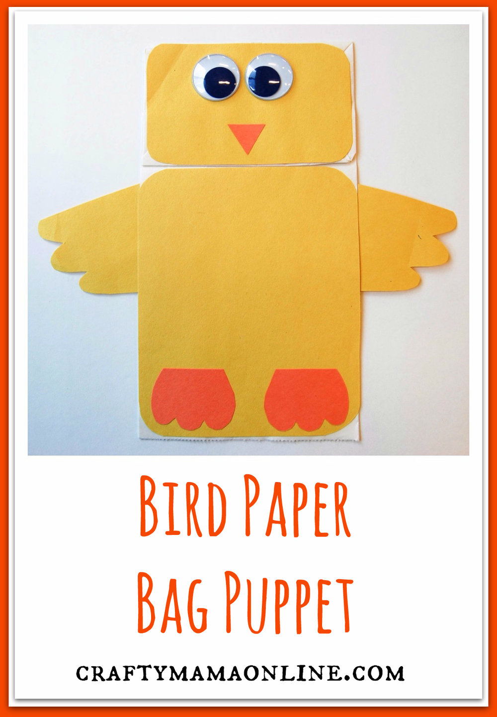 bird paper bag puppet