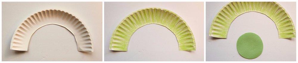 caterpillar paper plate craft 1