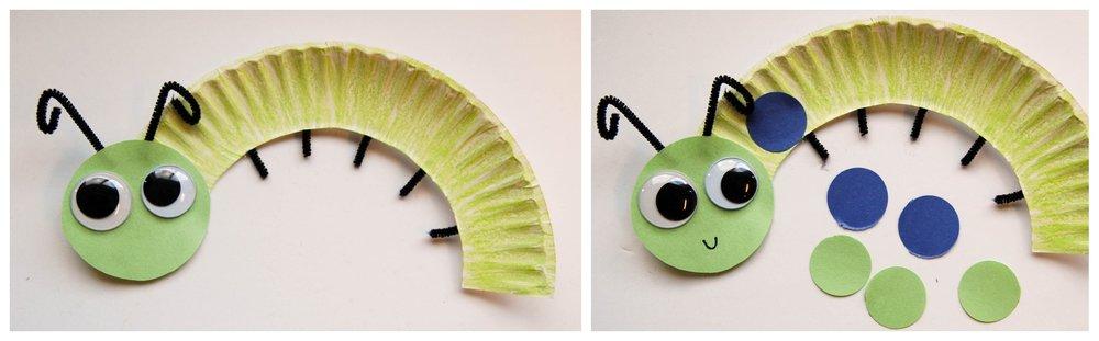 caterpillar paper plate craft 3