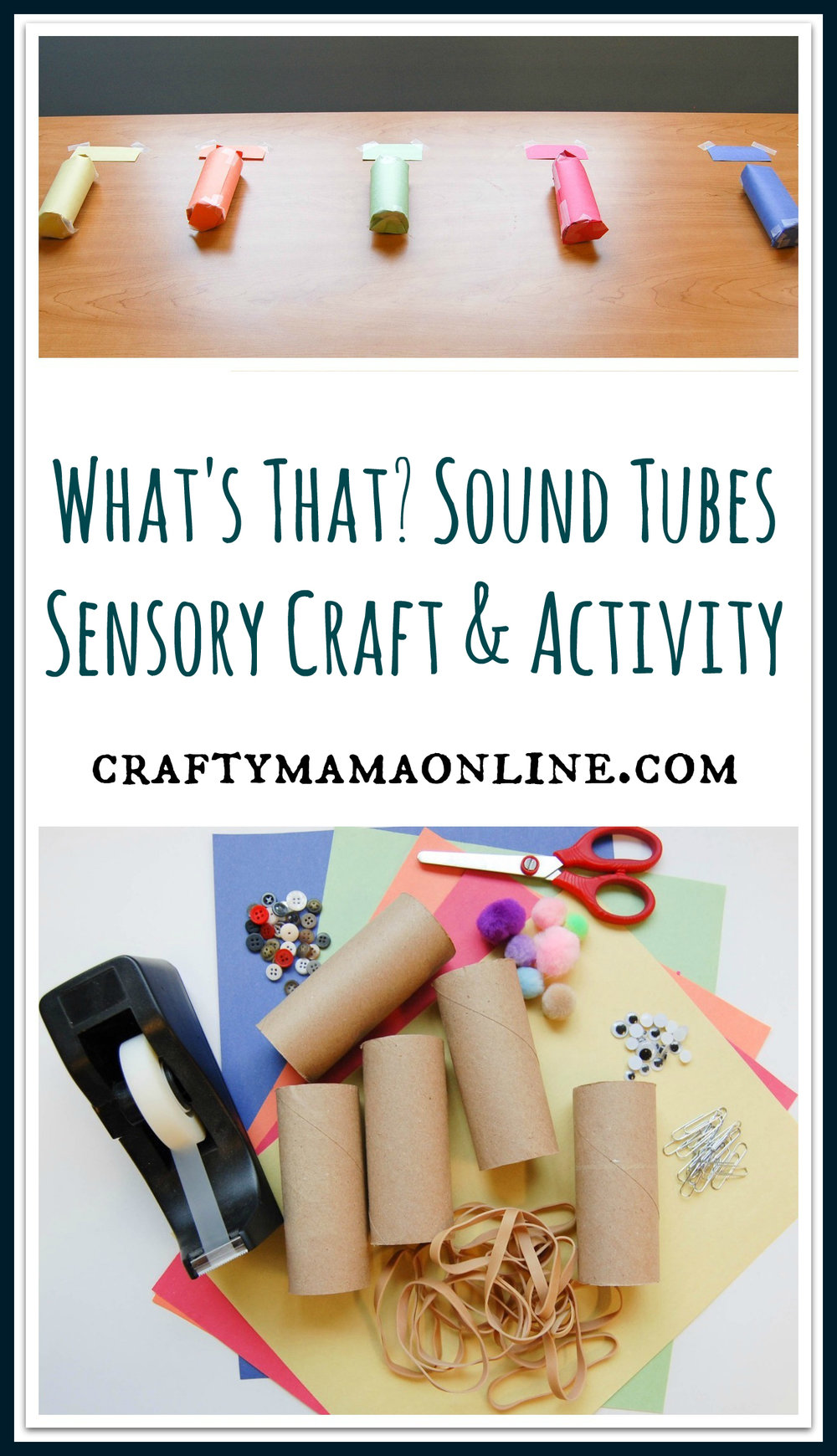 sound tubes sensory craft activity