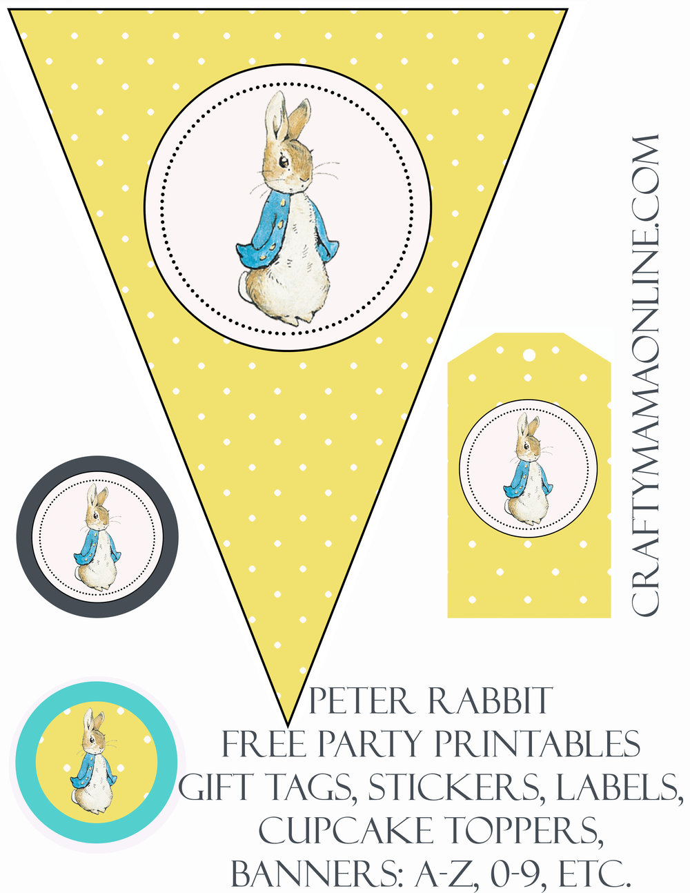 peter rabbit free party printables