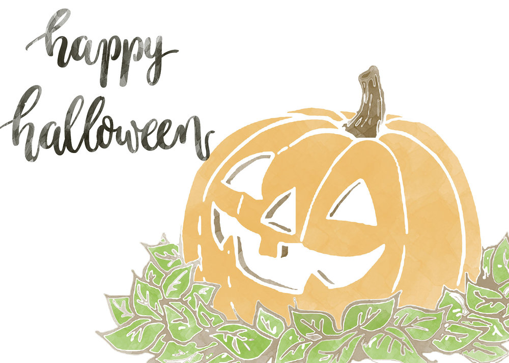 happy halloween free printable card