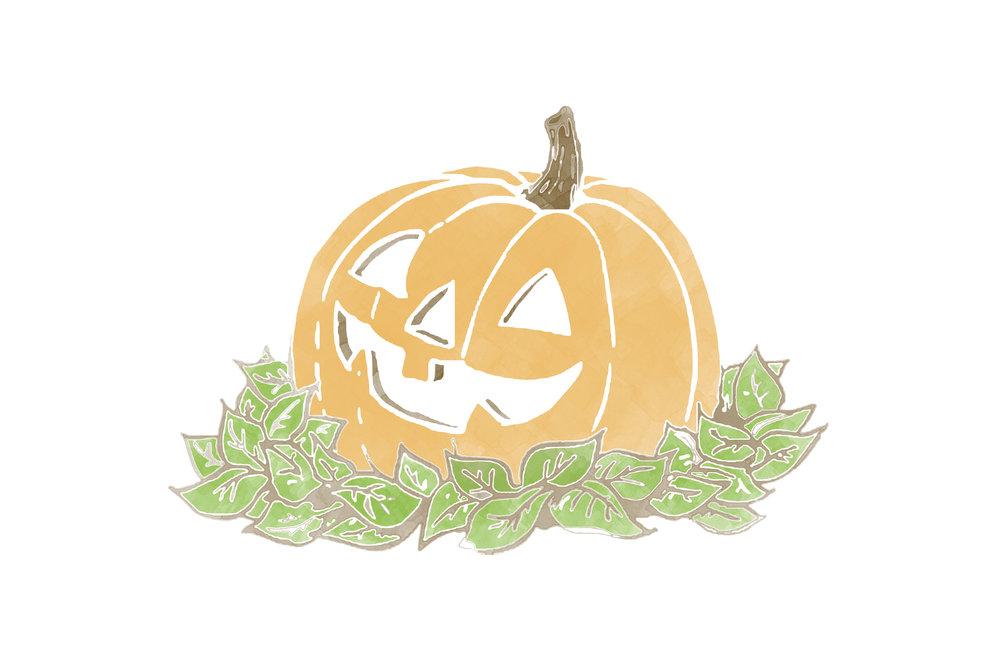 free pumpkin printable card