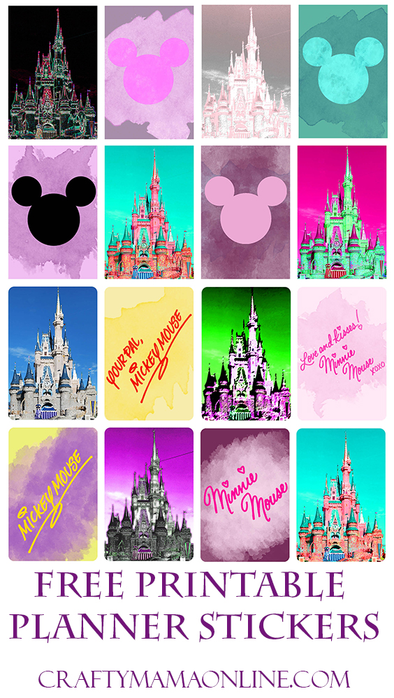 disney castle planner stickers