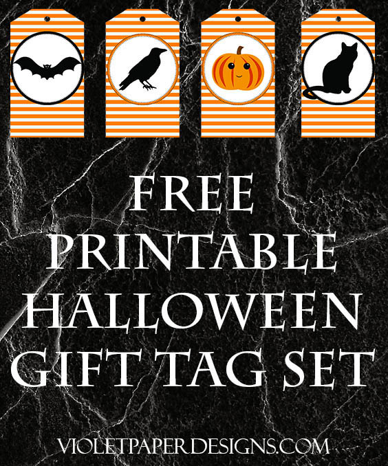 Free printable halloween gift tags violet paper designs negle Image collections