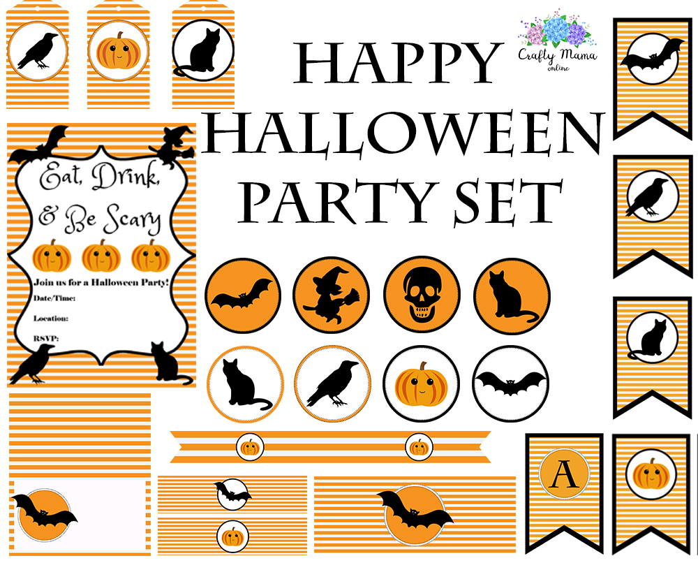 Free printable halloween gift tags violet paper designs halloween etsy party set negle Image collections