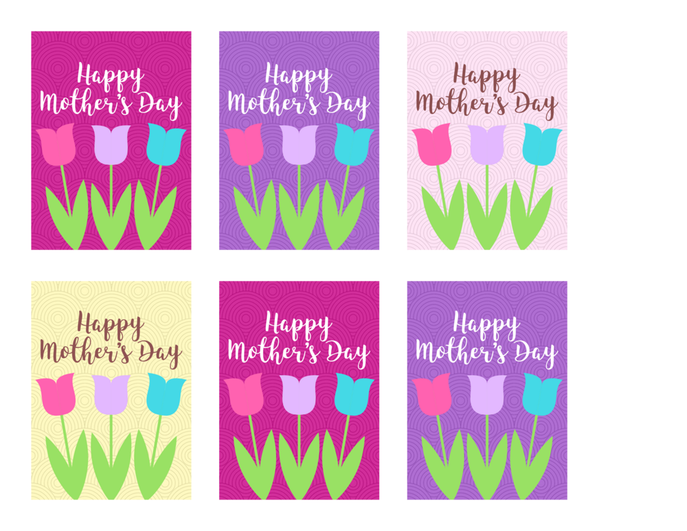 free printable tulip mother's day gift tags
