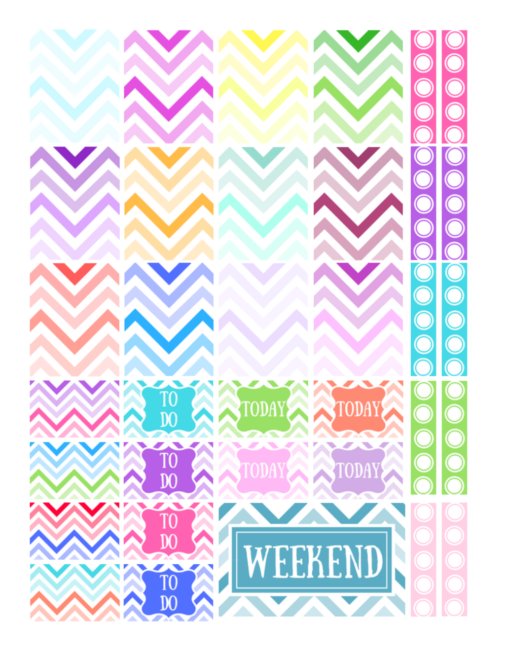 free printable chevron stickers