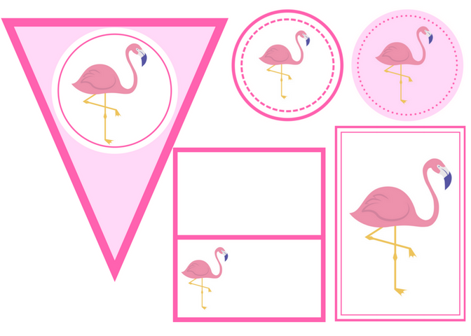 free printable flamingo party set