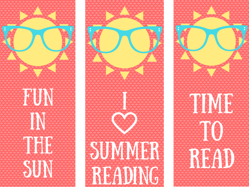free printable summer reading bookmarks