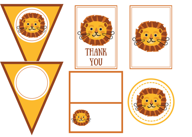 Free Printable Lion Party Kit.png