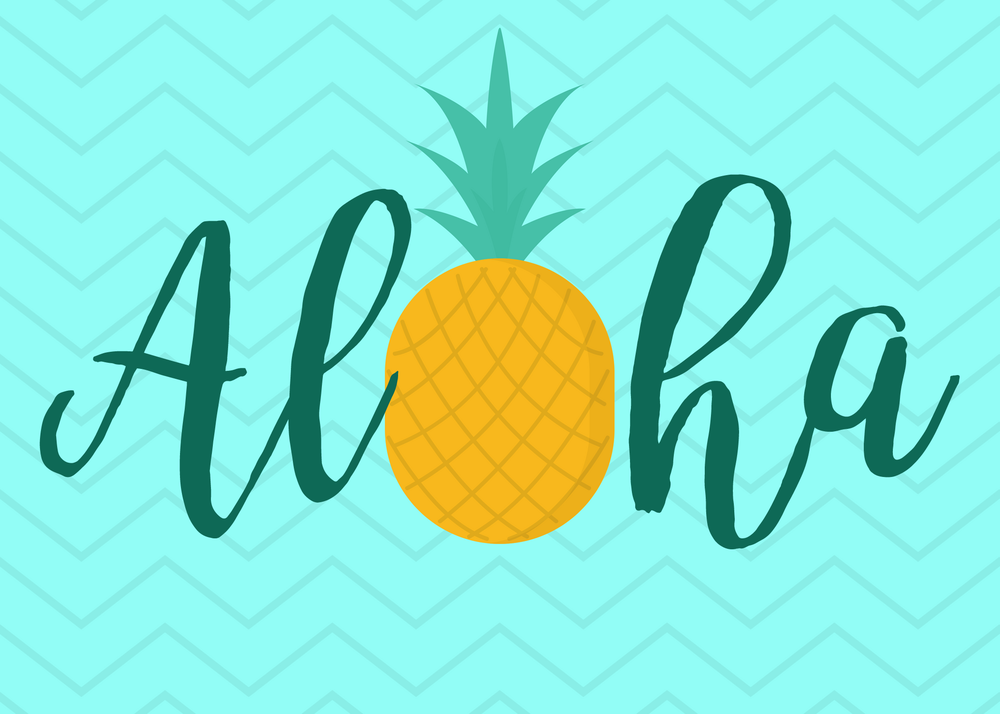 free printable pineapple aloha card