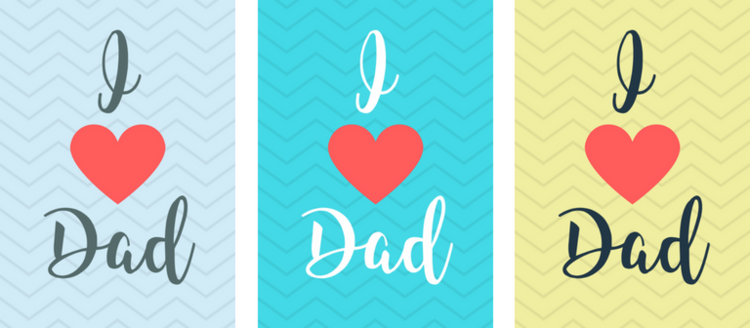 Free Printable I Heart Dad Father\'s Day Gift Tags — Violet Paper Designs