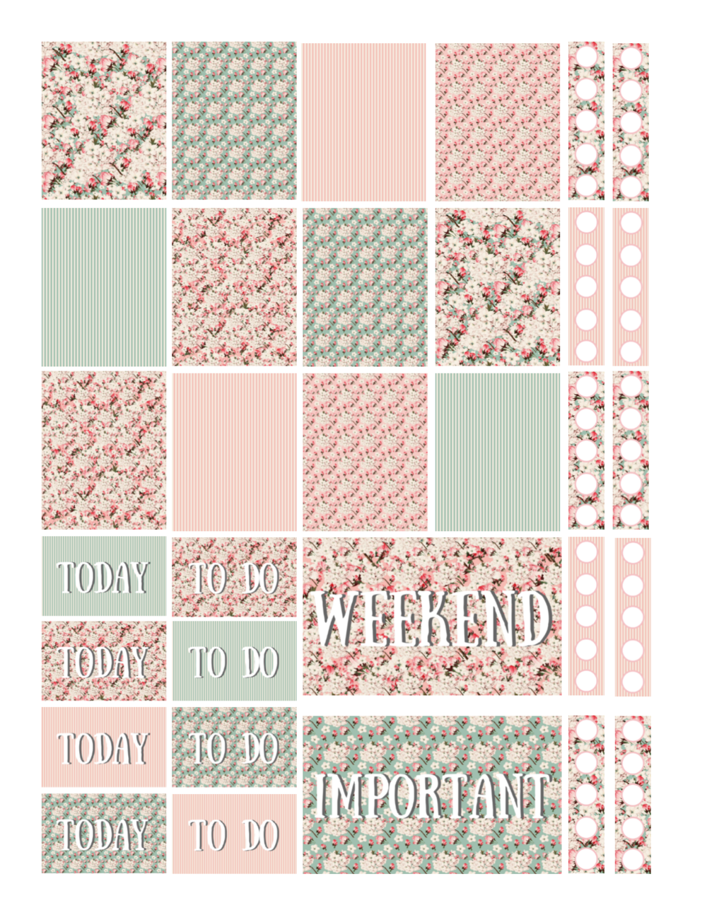 free printable vintage cherry blossoms planner stickers.png