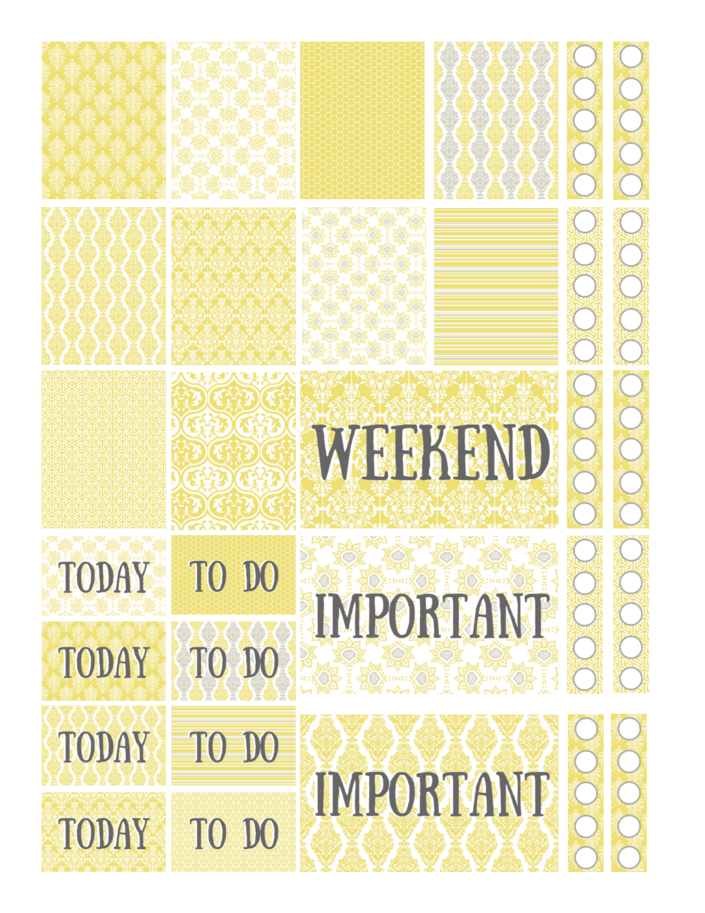 free printable yellow sunshine planner stickers.png