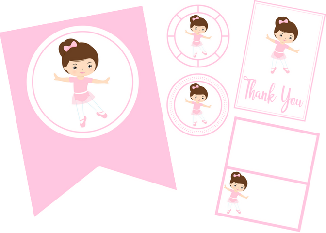 free printable ballerina party set