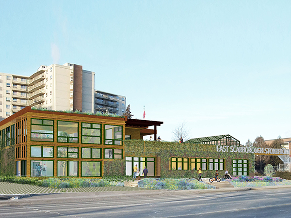 Conceptual image of the proposed East Scarborough Storefront after all phases are complete.Conceptual image of the proposed East Scarborough Storefront after all phases are complete.