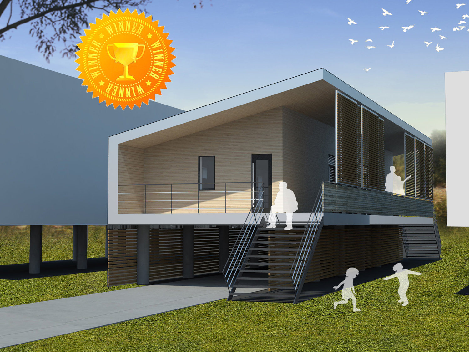 New orleans modern low cost low energy passive house for the lower 9th