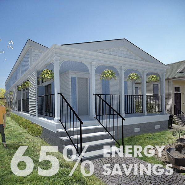 New Orleans v.2  Post-Katrina Traditional Passive House for Central City
