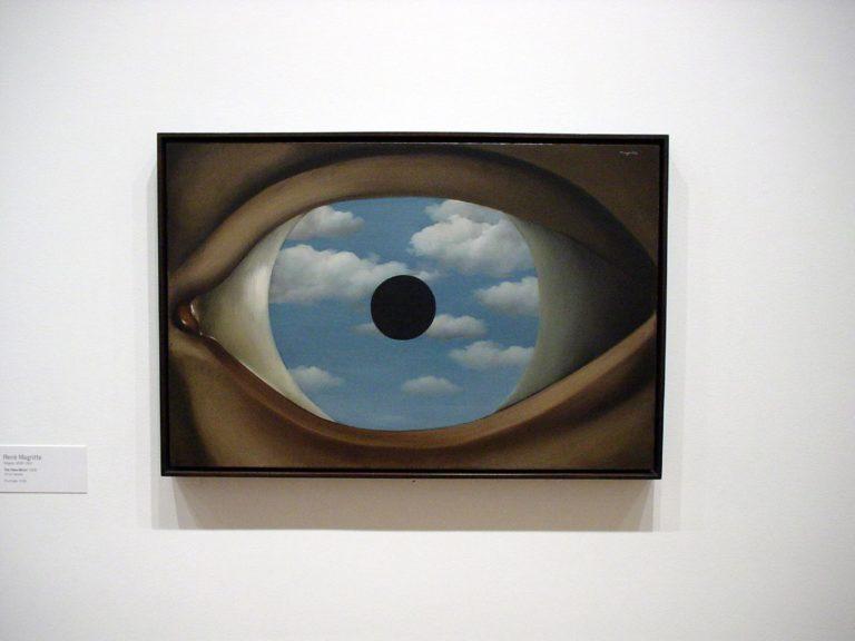The False Mirror , René Magritte, 1928.  Image Source