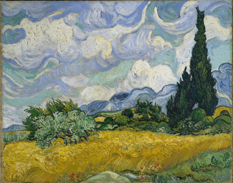 Vincent Van Gogh,  Wheat Field with Cypresses , 1889. Image Source