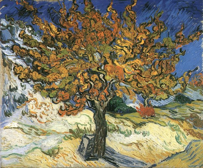 Vincent Van Gogh,  The Mulberry Tree , 1889. Image Source