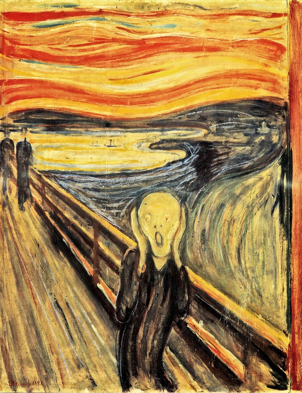 Edvard Munch, The Scream, 1893.  Image Source