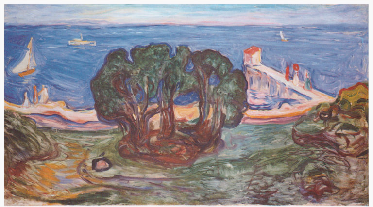 Edvard Munch, Trees on the Beach, 1904.  Image Source
