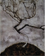 Egon Schiele,  Small Tree in Late Autumn , 1911.  Image Source