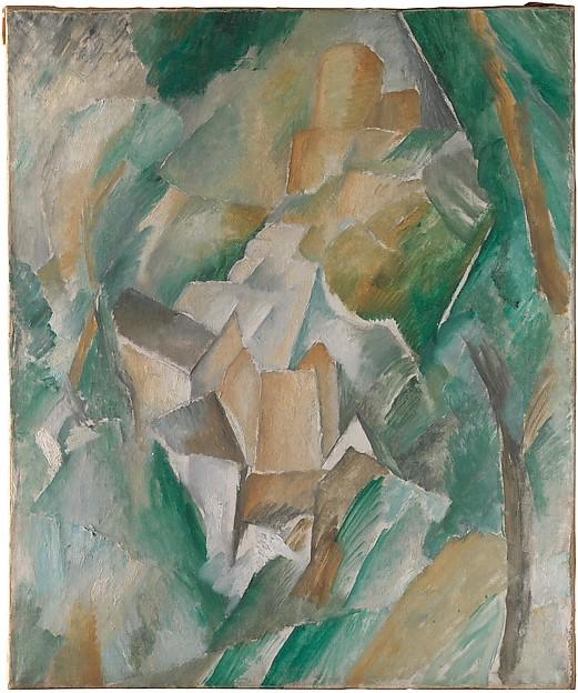 George Braques, The Castle of La Roche-Guyon, 1909. Image Source