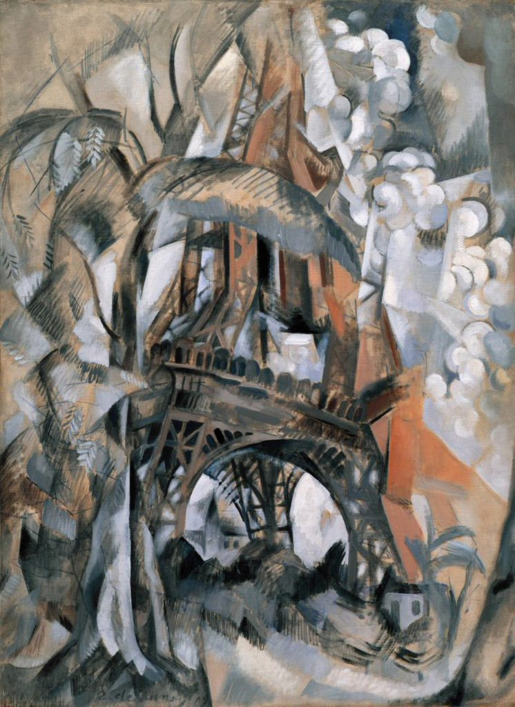 Robert Delaunay,  Eiffel Tower with Trees , 1910.  Image Source