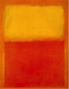 Mark Rothko, Orange and Yellow , 1956. Image Source