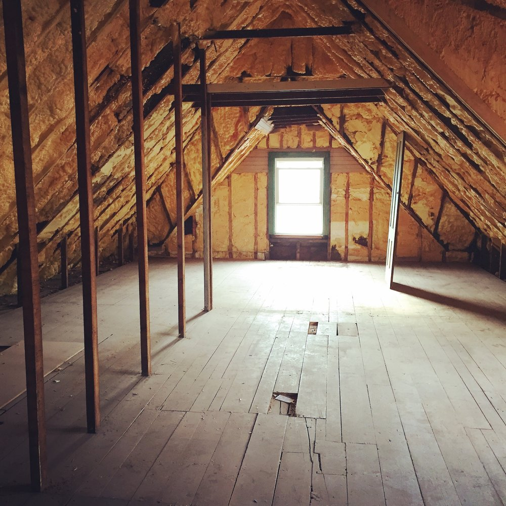 'Before' image of our attic space, as it was when we purchased the house.