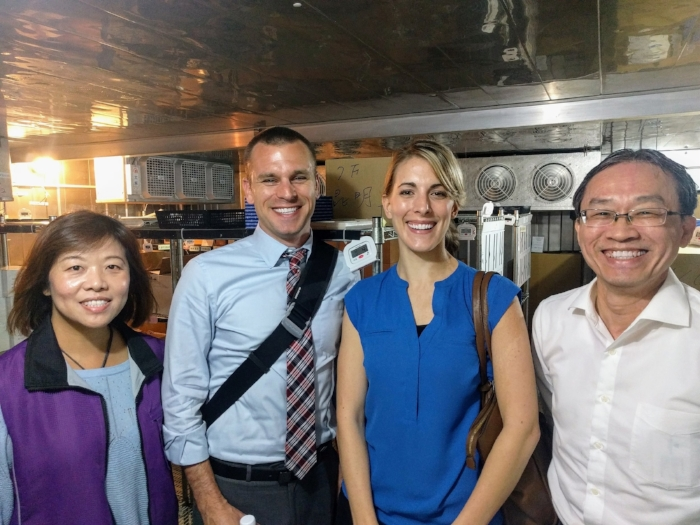 Diane and I hanging out in the vaccine cold storage with our colleagues from Taipei City.