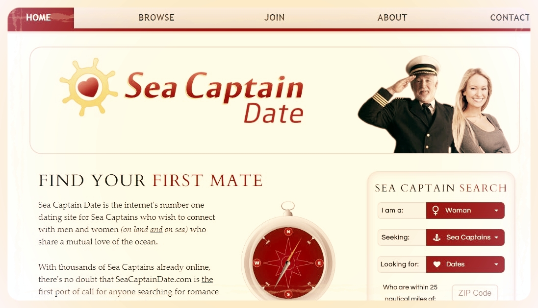 Sea captains dating site