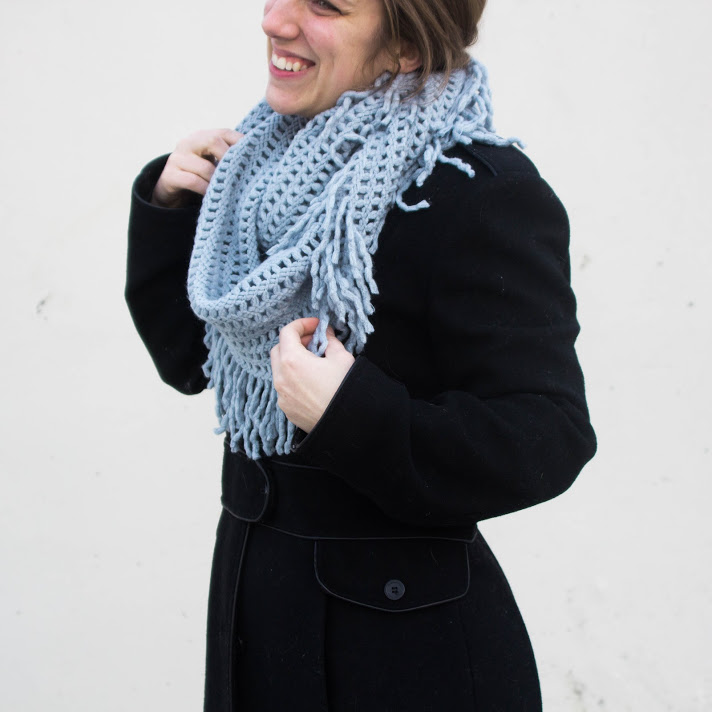 ARISE EXCLUSIVE PRODUCT! - This winter we've got this amazingly soft scarf in blue & creme that supports domestic abuse shelters from The Charity Wrap. You can't get this fashionable & cozy scarf anywhere else!We've only got 30 winter boxes so PREORDER your winter box before they're all gone!