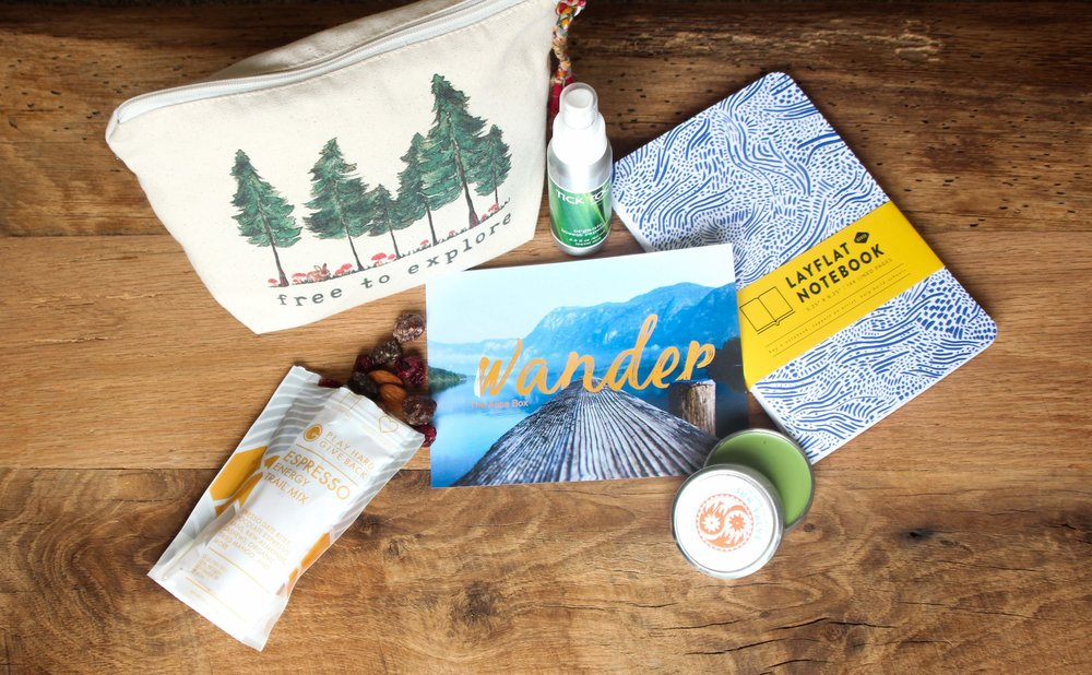 Summer - WANDER Box - Take an adventure. See something new. Wander. This box is packed with all your wandering essentials and all of them make the world a better place!