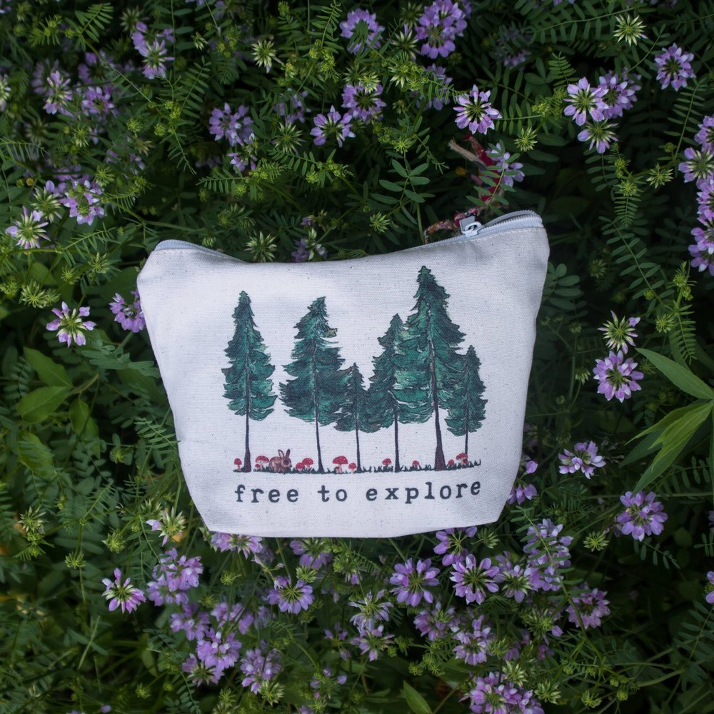 Fair trade pouch that also donates to survivors -